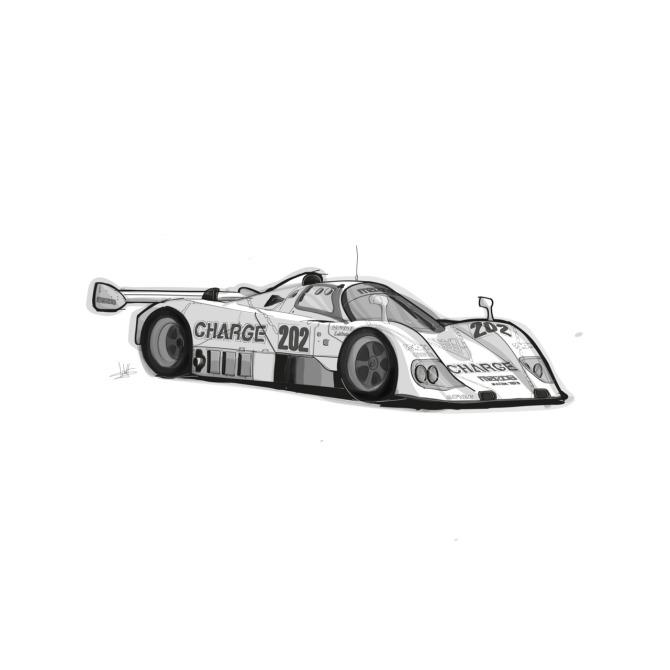 Mazda 767B by John J. Kimball