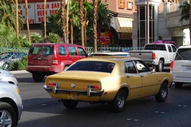 Yellow Maverick on the Las Vegas Strip