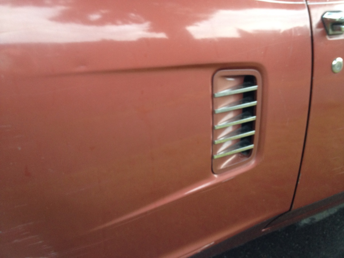 Jet exhaust styled side vent. Does it do anything?