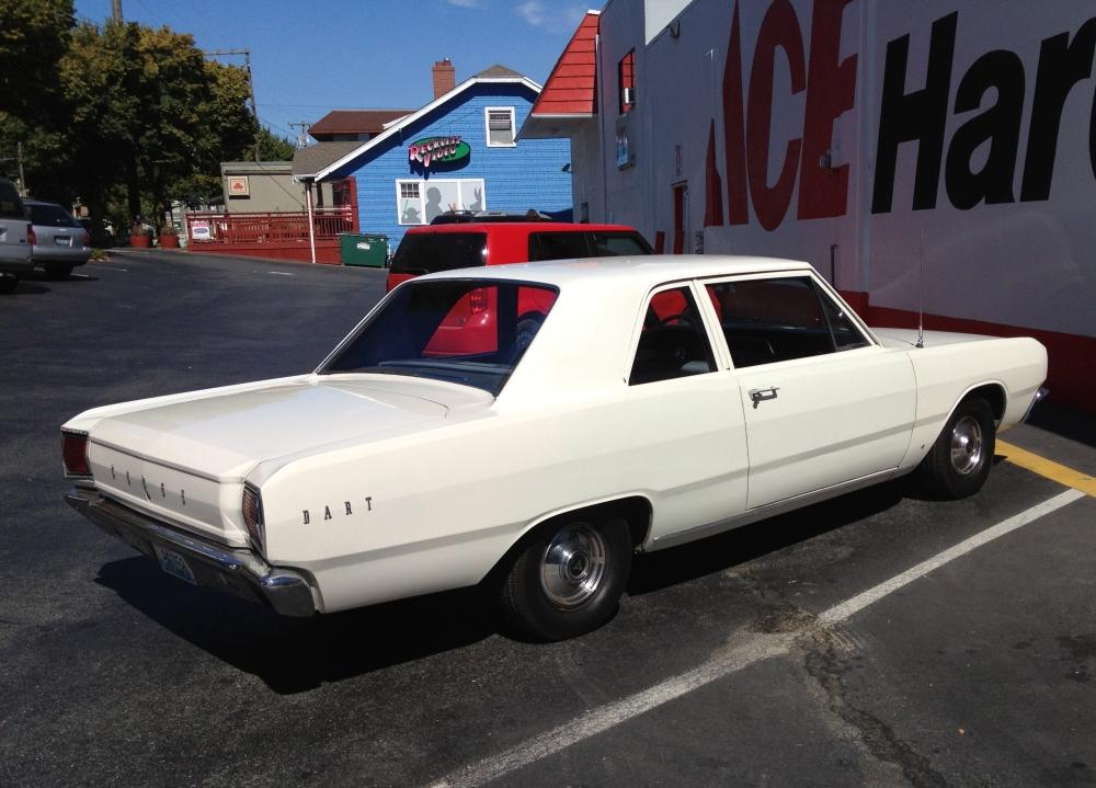 Dodge Dart rear profile