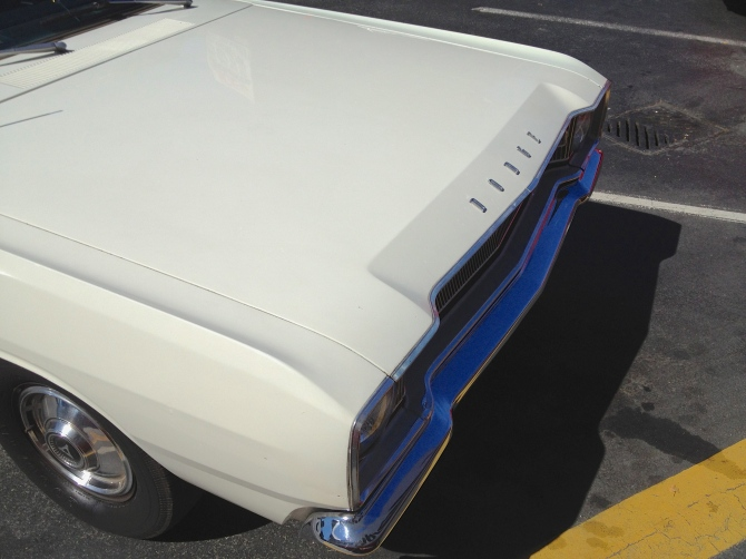 Dodge Dart hood detail