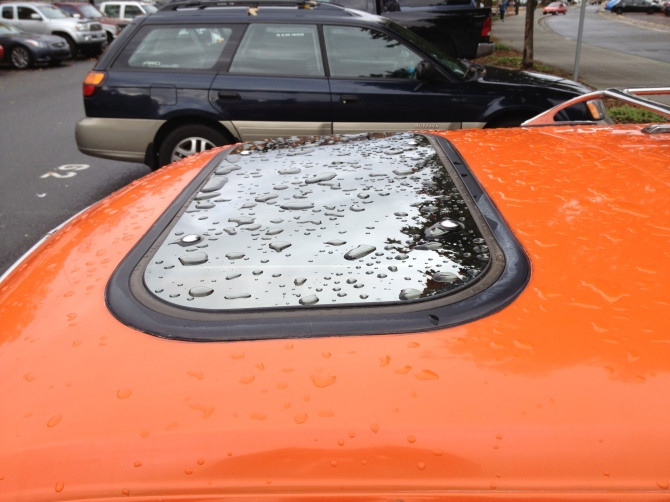 Mercury Bobcat cheapo aftermarket sunroof