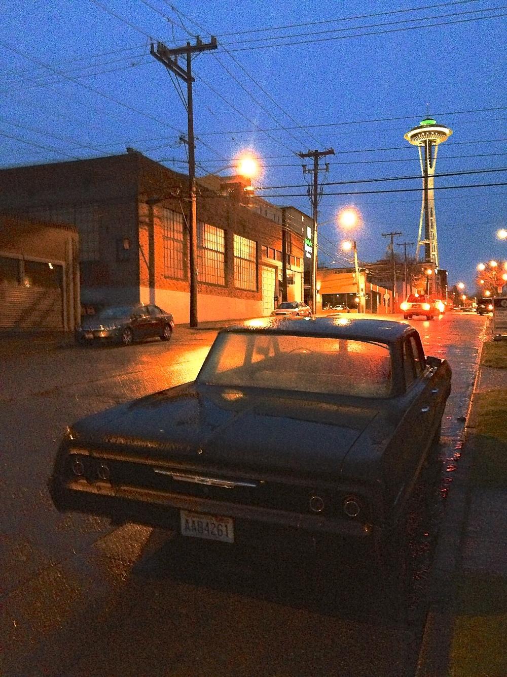 Chevrolet Bel Air at dusk