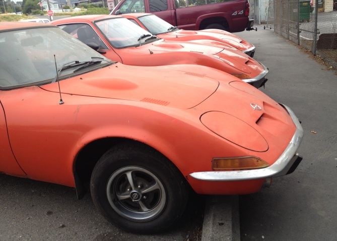 Three Opel GTs