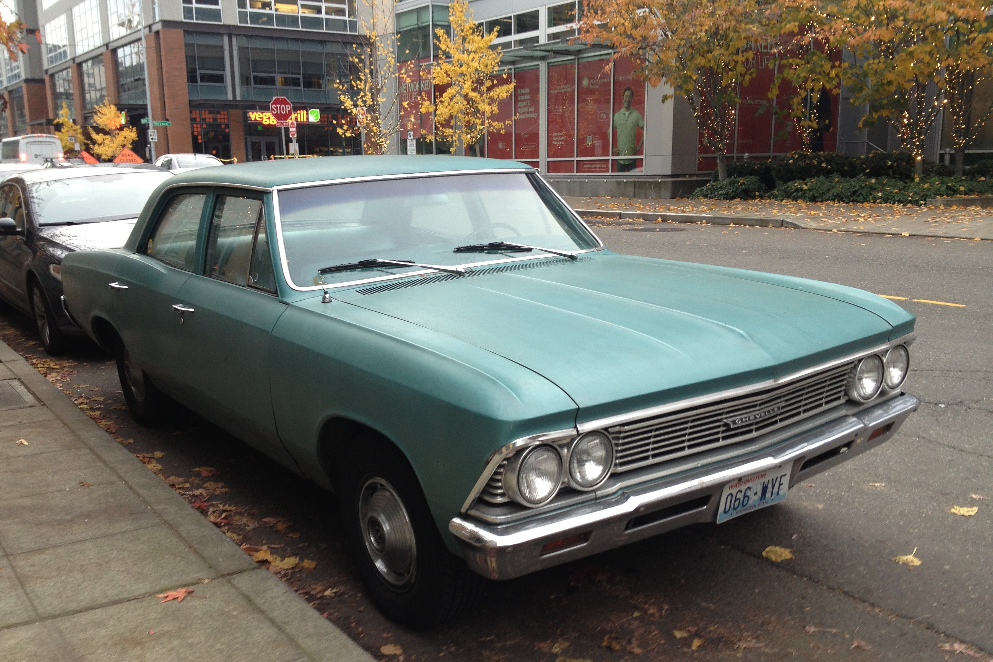 Street Parked 1966 Chevelle Sedan on chevy malibu muscle car